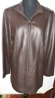 Women's Lambskin Leather Dark Brown Jacket Worthington Medium