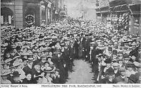 POSTCARD  DEVON  BARNSTAPLE   Proclaiming the  Fair  1907