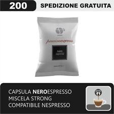 200 CAPSULE COMPATIBILI NESPRESSO CAFFE' LOLLO MISCELA NERA FORTE