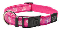 Rogz Side Release Collar - Pink Paws Dog Collar - Small Medium Large XL