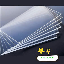 3mm Clear Plastic Acrylic Plexiglass Perspex Sheet A5 Size 148mm x 210mm