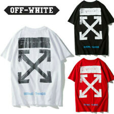 OFF WHITE Men's Arrow Alphabet Print Oversized Loose Short Sleeves T-Shirts Tops