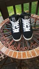 Puma suede High Top Black With White Bottoms