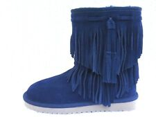 KOOLABURRA by UGG Cable Woman's Winter Boots Suede Navy Blue Size US 6