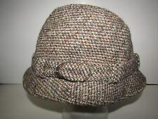 Vintage HARRODS  Tweed 100% Wool Fedora Style Hat Mens Size Large