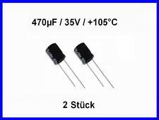 Elko stehend 470µF 63V  ø13x21mm RM5mm Elektrolyt-Kondensator