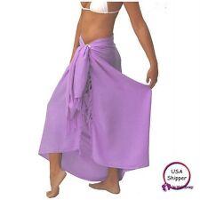 Lavender Sarongs Beachwear Hawaiian Batik Sarong Kanga Lava-Lava Mundu Pareau