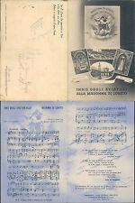 MADONNA DI LORETO,INNO DEGLI AMATORI,CARTOLINA DOPPIA -MARCHE(AN)F.G. N.43396