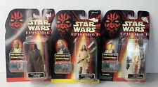 Hasbro 1998 - Star Wars Episode 1 action figures-Mace Windu, Qui-Gon Jinn, OOM-9