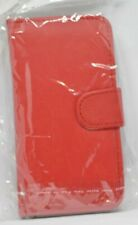 Samsung galaxy S4 leather flip case/wallet (19500) Red
