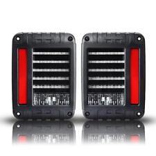 LED Tail Light Rear Turn Signal Reverse Brake Lamp for Jeep Wrangler JK 2007-18