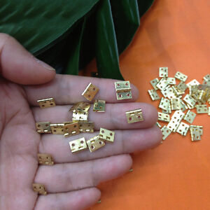 20Pcs Selected Hinges  80 Screws Mini 8*10mm Brass Decorative Jewelry Cigar Box