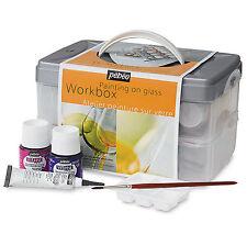Pebeo Vitrea 160 Glass Paint Workbox - Home Oven Bake Glass Paints