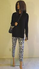 LULULEMON Jet Crop Slim Luxtreme Petal Black Yellow Walking Yoga Travel Pants~8
