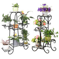 White Black Metal Plant Stand Display Flowers Pot Home Garden Balcony Decoration