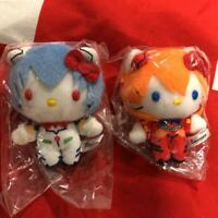 Hello Kitty x Evangelion collaboration Plush Asuka & Rei Sanrio F/S Tracking New