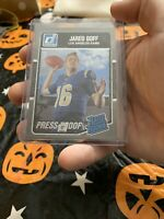 2016 Jared Goff Donruss Press Proofs Silver #372 30/100 Rams Rated Rookie RC