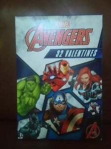Marvel Avengers Valentines Day Cards Box of 32 Cards