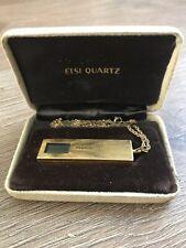 Sharp Pendant Watch CT-418 Vintage Necklace Watch 70/80's Gold Colour Rare Retro