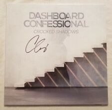 Dashboard Confessional Autographed Crooked Shadows Light Blue-Clear Vinyl LP #1
