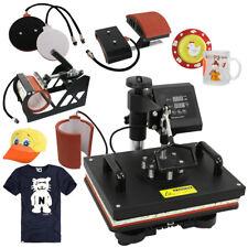 5 In 1 Transfer Sublimation T Shirt Mug Hat Plate Cap Heat Press Machine