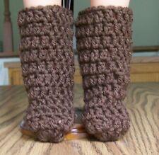 "Handmade, Crochet Boots for 18"" Doll"