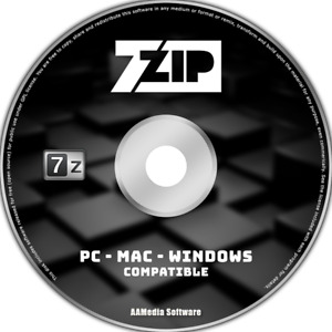 7-ZIP - WINRAR RAR ZIP Compatible Compression Archive Software PC & MAC OSX