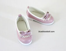 1/4 bjd msd girl doll pink flat shoes for large feet Kate Wiggs Myou ship US