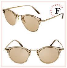 Oliver Peoples OP-505 30th Military Beige 18K Gold Plated Eyeglasses OV5184 47mm