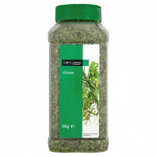 Chives | Dried |Quality | 50g in Tub with 2 Close-able Lids | Chefs Larder
