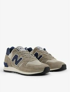 New Balance 670 Grey Suede & Mesh Sneakers, Size 39.5 EU - WORN ONCE!