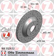 2x Bremsscheibe Bremse original ZIMMERMANN (100.3329.52)