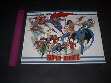 DC COMICS SUPER-HEROES POSTER PIN UP SHAZAM,FIRESTAR,SUPERMAN,BATMAN,FLASH