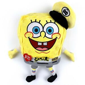 Nickelodeon Spongebob Plush Stuffed Toy with Taxi Driver Cap and Bow-Tie
