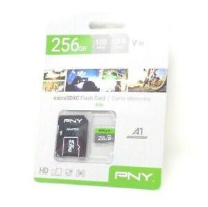 PNY Elite 100MBs Class 10 microSDXC Memory Card - 256GB GENUINE SEALED.