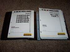 New Holland W110B Tier 3 Wheel Loader Shop Service Repair Manual w/ Engine Book