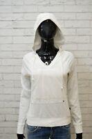 EVERLAST Felpa Cappuccio Donna Taglia M Bianco Sweatshirt Maglione Pullover