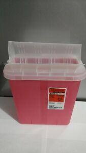 Sharps Container, 2 Gallon, Translucent Base, Horizontal Entry Lid, 89671 - 3 Pk