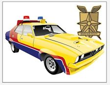 Mad Max Yellow XB Interceptor - MFP Main Force Patrol  BANNER