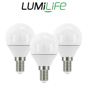 Lumilife E14 LED Light Bulbs 5W Golf Ball & Candle Cool Warm & Daylight Dimmable
