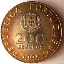 1994 PORTUGAL 200 ESCUDOS - AU Bi-Metal Coin bi-metal Bin #1