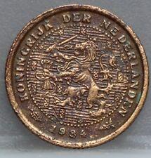 Nederland - The Netherlands  halve cent 1934 - 1/2 cent 1934 KM# 138