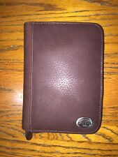 Authentic Fossil Palm Pilot Pda Organizer Phone Case/Wallet- Brown Leather