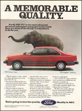 1984`Print Ad Mercury Topaz Red 2-door Ford Elephant photo Hardtop (031216)