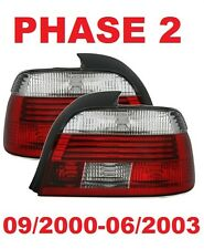 2 FEUX ARRIERE LED WHITE RED BMW SERIE 5 E39 BERLINE PACK M 09/2000-06/2003