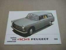 1969 PEUGEOT 404 Catalogue Brochure Prospekt Dépliant French