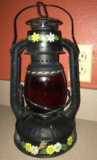 Vintage Dietz Red Globed Little Wizard Kerosene Lantern Usa Beautifully Painted