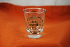 Nice US Border Patrol Green Printed Logo Shot Glass - Great Gift!