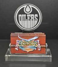 NIB Edmonton Oilers Caseworks Business Card Holder Display Acrylic NHL Hockey