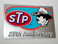 2 Vintage Nascar STP Racing Oil Richard Petty 25th Anniversary Sticker New NOS